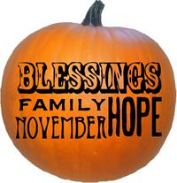Happy Thanksgiving Blessings Family Hope November