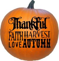 Happy Thanksgiving Thankful Faith Harvest Love Autumn